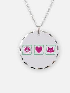 Peace Love Kitties Necklace