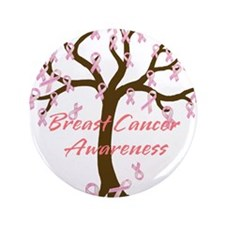 "Breast Cancer Awareness Tree 3.5"" Button (100 pack"