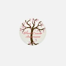 Breast Cancer Awareness Tree Mini Button