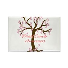 Breast Cancer Awareness Tree Rectangle Magnet