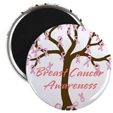 Breast Cancer Awareness Tree Magnet