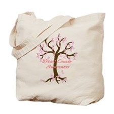 Breast Cancer Awareness Tree Tote Bag