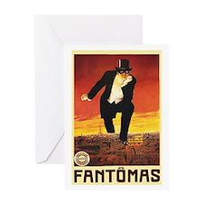Fantomas 1913 Greeting Card