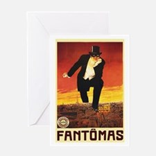 Fantomas 1913 Greeting Card