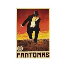 Fantomas 1913 Rectangle Magnet