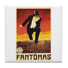 Fantomas 1913 Tile Coaster
