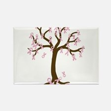 Breast Cancer Tree Rectangle Magnet