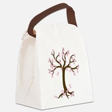 Breast Cancer Tree Canvas Lunch Bag