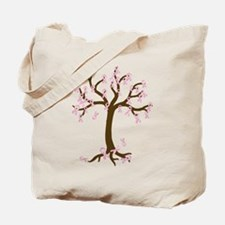Breast Cancer Tree Tote Bag
