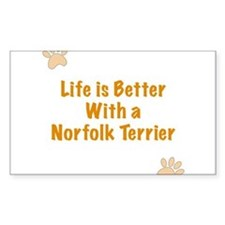 Life is better with a Norfolk Terrier Decal