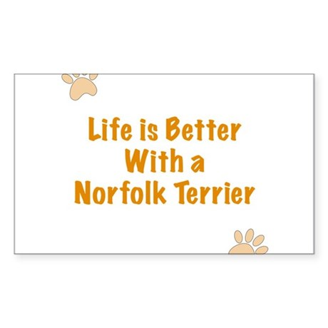 Life is better with a Norfolk Terrier Sticker (Rec