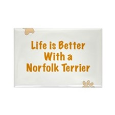 Life is better with a Norfolk Terrier Rectangle Ma