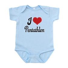 I Love Pentathlon Infant Bodysuit