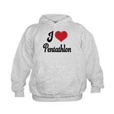 I Love Pentathlon Hoodie