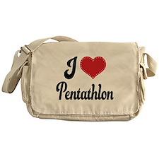 I Love Pentathlon Messenger Bag