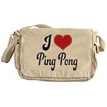I Love Ping Pong Messenger Bag