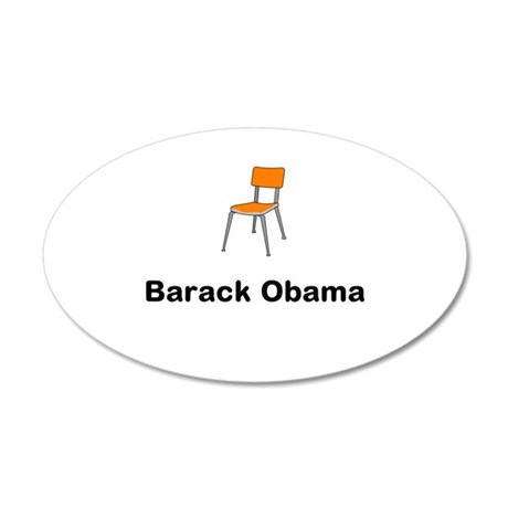 Barack Obama Chair 35x21 Oval Wall Decal