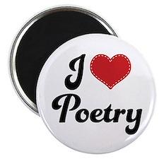 I Love Poetry Magnet