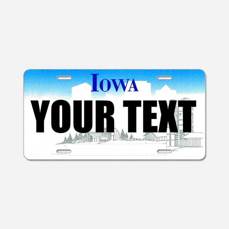 Iowa Custom License Plate