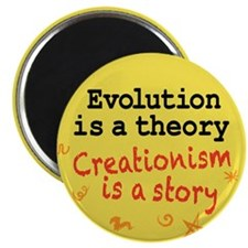 """Evolution is a Theory 2.25"""" Magnet (10 pack)"""