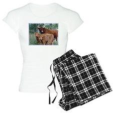Two highland calves with mama cow Pajamas