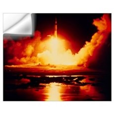 Night launch of Apollo 17 Wall Decal