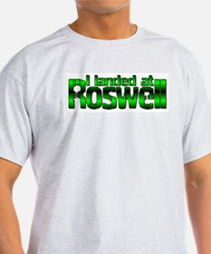 I landed at Roswell Ash Grey T-Shirt