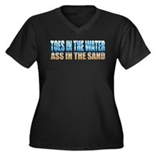 Toes in the Water ~ Ass In The Sand Women's Plus S