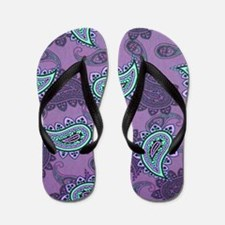 LARGE PURPLE PAISLEY Flip Flops