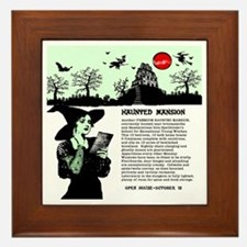 Haunted Mansion located Framed Tile