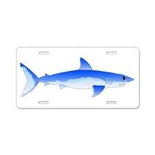 Shortfin Mako Shark Aluminum License Plate
