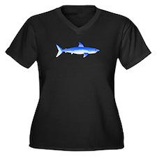 Shortfin Mako Shark Women's Plus Size V-Neck Dark