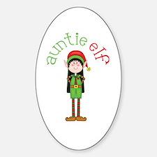 Auntie Christmas Elf Decal
