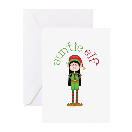 Auntie Christmas Elf Greeting Cards (Pk of 10)