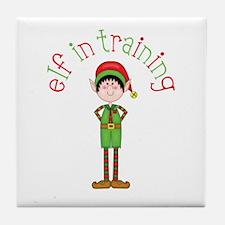 Elf in Training Tile Coaster