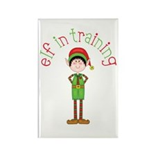 Elf in Training Rectangle Magnet