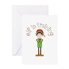 Elf in Training Greeting Card