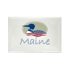 Proud Loon-Maine: Rectangle Magnet