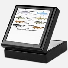 Sharks and More Sharks Montage Keepsake Box