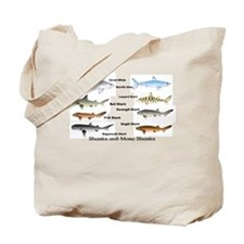 Sharks and More Sharks Montage Tote Bag