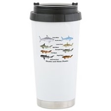 Sharks and More Sharks Montage Travel Mug
