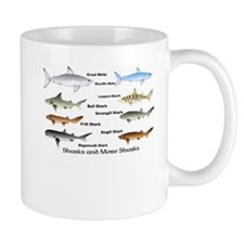 Sharks and More Sharks Montage Mug