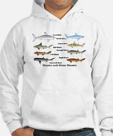 Sharks and More Sharks Montage Hoodie