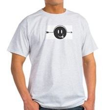 Crazy Smiley Face Ash Grey T-Shirt