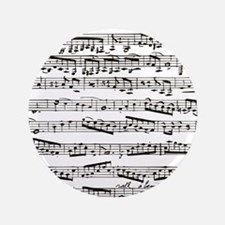 """Music notes 3.5"""" Button"""