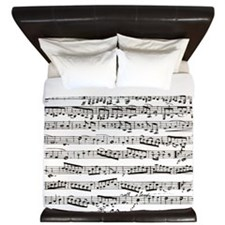 Music notes King Duvet