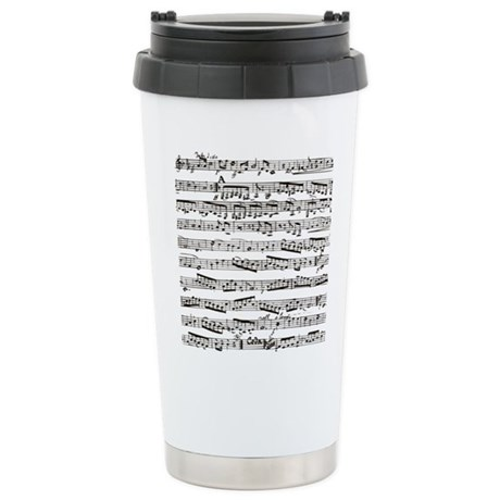 Music notes Stainless Steel Travel Mug