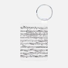 Music notes Aluminum Photo Keychain