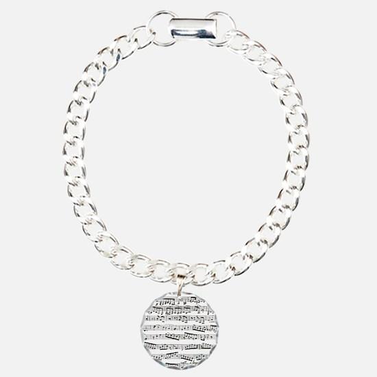 Music notes Charm Bracelet, One Charm