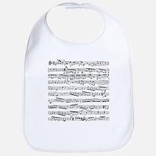 Music notes Bib